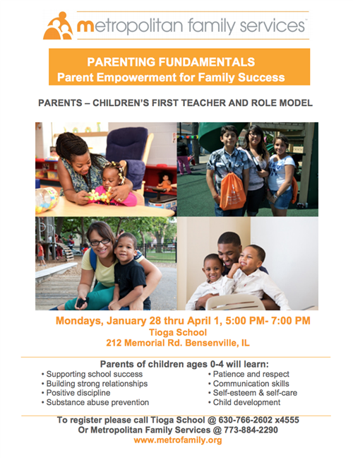 Image of Metropolitan Family Services Parenting Fundamentals flyer